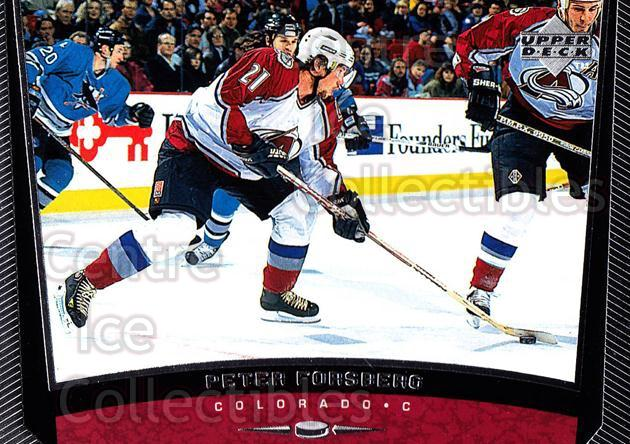 1998-99 Upper Deck #69 Peter Forsberg<br/>12 In Stock - $1.00 each - <a href=https://centericecollectibles.foxycart.com/cart?name=1998-99%20Upper%20Deck%20%2369%20Peter%20Forsberg...&quantity_max=12&price=$1.00&code=190293 class=foxycart> Buy it now! </a>