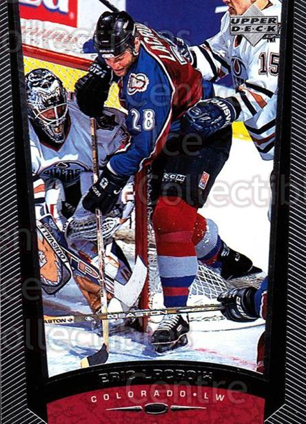 1998-99 Upper Deck #71 Eric Lacroix<br/>13 In Stock - $1.00 each - <a href=https://centericecollectibles.foxycart.com/cart?name=1998-99%20Upper%20Deck%20%2371%20Eric%20Lacroix...&quantity_max=13&price=$1.00&code=190296 class=foxycart> Buy it now! </a>