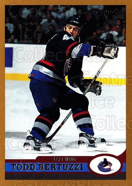 1999-00 O-Pee-Chee #38 Todd Bertuzzi<br/>4 In Stock - $1.00 each - <a href=https://centericecollectibles.foxycart.com/cart?name=1999-00%20O-Pee-Chee%20%2338%20Todd%20Bertuzzi...&quantity_max=4&price=$1.00&code=190869 class=foxycart> Buy it now! </a>