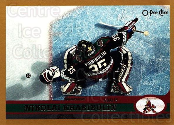 1999-00 O-Pee-Chee #47 Nikolai Khabibulin<br/>12 In Stock - $1.00 each - <a href=https://centericecollectibles.foxycart.com/cart?name=1999-00%20O-Pee-Chee%20%2347%20Nikolai%20Khabibu...&quantity_max=12&price=$1.00&code=190879 class=foxycart> Buy it now! </a>