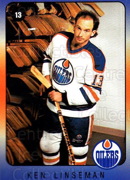 1990-91 Edmonton Oilers IGA #12 Ken Linseman<br/>4 In Stock - $3.00 each - <a href=https://centericecollectibles.foxycart.com/cart?name=1990-91%20Edmonton%20Oilers%20IGA%20%2312%20Ken%20Linseman...&quantity_max=4&price=$3.00&code=19114 class=foxycart> Buy it now! </a>