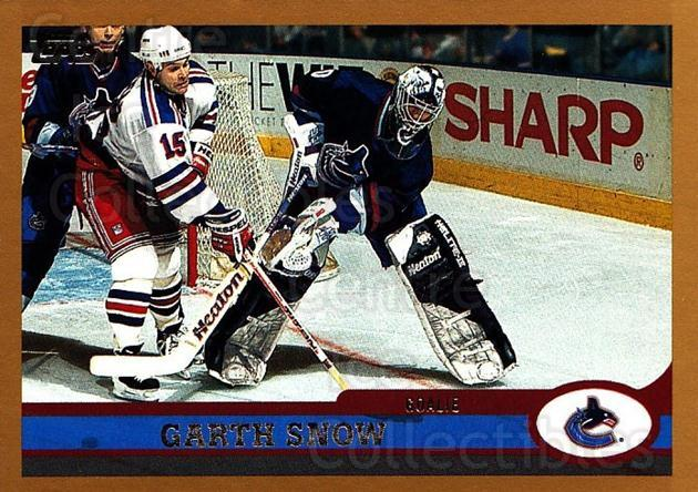 1999-00 Topps #116 Garth Snow<br/>7 In Stock - $1.00 each - <a href=https://centericecollectibles.foxycart.com/cart?name=1999-00%20Topps%20%23116%20Garth%20Snow...&quantity_max=7&price=$1.00&code=192237 class=foxycart> Buy it now! </a>