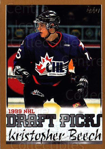 1999-00 Topps #260 Kris Beech<br/>2 In Stock - $1.00 each - <a href=https://centericecollectibles.foxycart.com/cart?name=1999-00%20Topps%20%23260%20Kris%20Beech...&quantity_max=2&price=$1.00&code=192392 class=foxycart> Buy it now! </a>