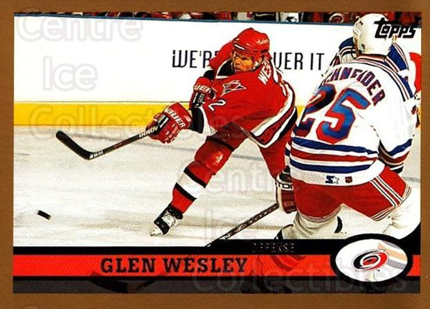 1999-00 Topps #27 Glen Wesley<br/>3 In Stock - $1.00 each - <a href=https://centericecollectibles.foxycart.com/cart?name=1999-00%20Topps%20%2327%20Glen%20Wesley...&quantity_max=3&price=$1.00&code=192400 class=foxycart> Buy it now! </a>