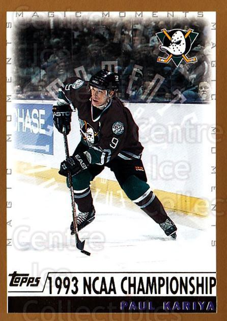 1999-00 Topps #281 Paul Kariya<br/>1 In Stock - $3.00 each - <a href=https://centericecollectibles.foxycart.com/cart?name=1999-00%20Topps%20%23281%20Paul%20Kariya...&quantity_max=1&price=$3.00&code=192422 class=foxycart> Buy it now! </a>