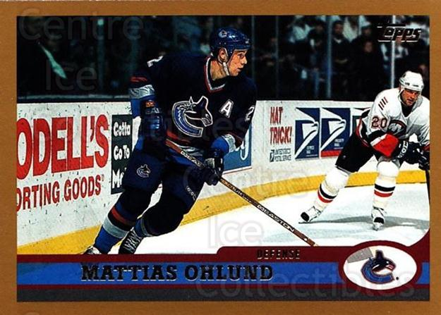 1999-00 Topps #76 Mattias Ohlund<br/>6 In Stock - $1.00 each - <a href=https://centericecollectibles.foxycart.com/cart?name=1999-00%20Topps%20%2376%20Mattias%20Ohlund...&quantity_max=6&price=$1.00&code=192487 class=foxycart> Buy it now! </a>