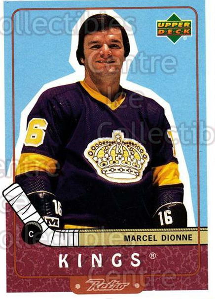 1999-00 Upper Deck Retro #103 Marcel Dionne<br/>5 In Stock - $1.00 each - <a href=https://centericecollectibles.foxycart.com/cart?name=1999-00%20Upper%20Deck%20Retro%20%23103%20Marcel%20Dionne...&quantity_max=5&price=$1.00&code=192828 class=foxycart> Buy it now! </a>