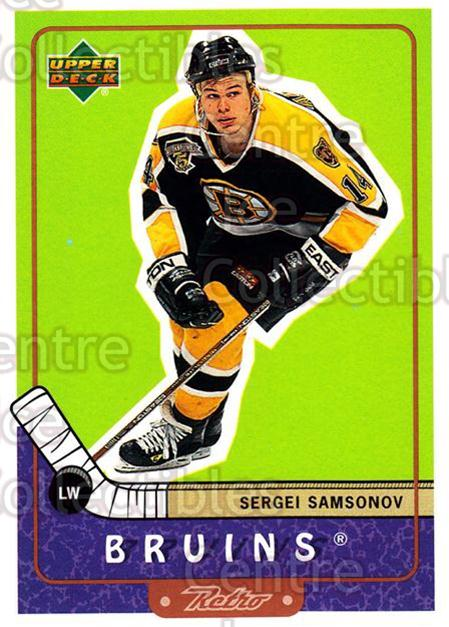1999-00 Upper Deck Retro #5 Sergei Samsonov<br/>7 In Stock - $1.00 each - <a href=https://centericecollectibles.foxycart.com/cart?name=1999-00%20Upper%20Deck%20Retro%20%235%20Sergei%20Samsonov...&quantity_max=7&price=$1.00&code=192876 class=foxycart> Buy it now! </a>