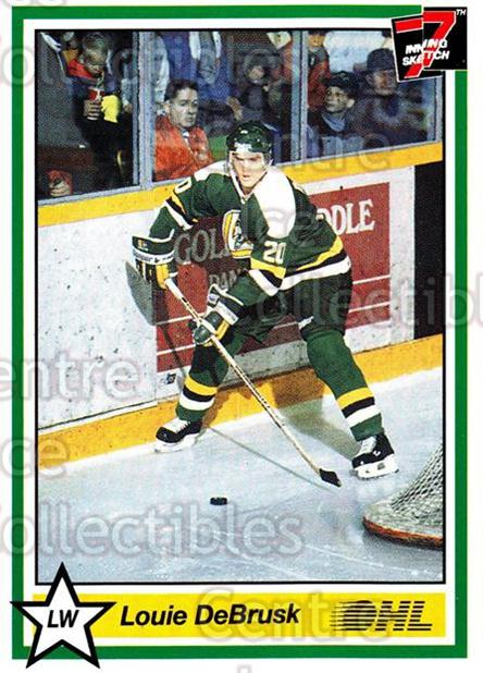 1990-91 7th Inning Sketch OHL #132 Louie DeBrusk<br/>7 In Stock - $1.00 each - <a href=https://centericecollectibles.foxycart.com/cart?name=1990-91%207th%20Inning%20Sketch%20OHL%20%23132%20Louie%20DeBrusk...&quantity_max=7&price=$1.00&code=19288 class=foxycart> Buy it now! </a>
