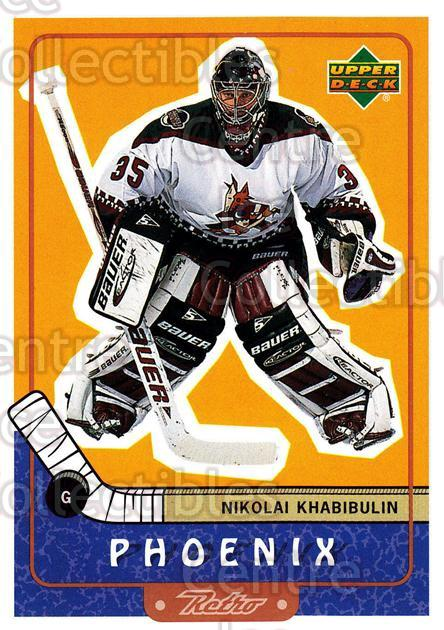 1999-00 Upper Deck Retro #62 Nikolai Khabibulin<br/>6 In Stock - $1.00 each - <a href=https://centericecollectibles.foxycart.com/cart?name=1999-00%20Upper%20Deck%20Retro%20%2362%20Nikolai%20Khabibu...&quantity_max=6&price=$1.00&code=192890 class=foxycart> Buy it now! </a>
