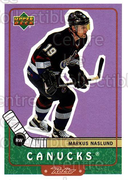 1999-00 Upper Deck Retro #76 Markus Naslund<br/>7 In Stock - $1.00 each - <a href=https://centericecollectibles.foxycart.com/cart?name=1999-00%20Upper%20Deck%20Retro%20%2376%20Markus%20Naslund...&quantity_max=7&price=$1.00&code=192904 class=foxycart> Buy it now! </a>