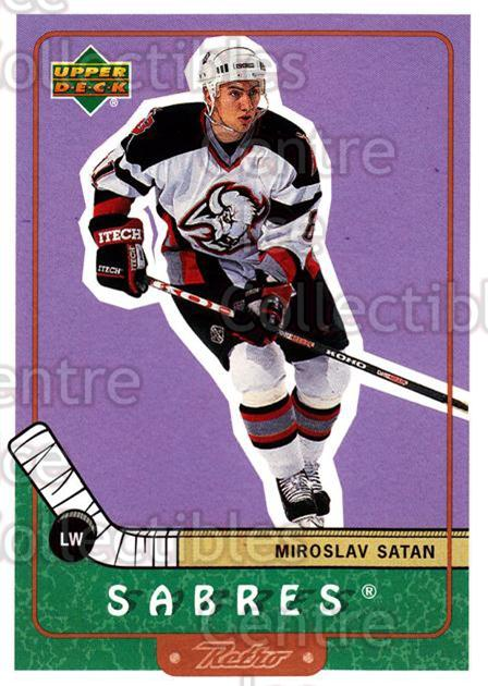1999-00 Upper Deck Retro #8 Miroslav Satan<br/>7 In Stock - $1.00 each - <a href=https://centericecollectibles.foxycart.com/cart?name=1999-00%20Upper%20Deck%20Retro%20%238%20Miroslav%20Satan...&quantity_max=7&price=$1.00&code=192908 class=foxycart> Buy it now! </a>