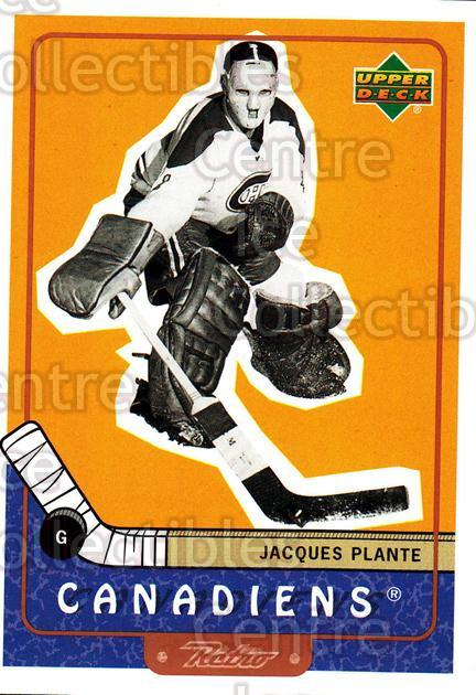 1999-00 Upper Deck Retro #90 Jacques Plante<br/>2 In Stock - $2.00 each - <a href=https://centericecollectibles.foxycart.com/cart?name=1999-00%20Upper%20Deck%20Retro%20%2390%20Jacques%20Plante...&quantity_max=2&price=$2.00&code=192917 class=foxycart> Buy it now! </a>