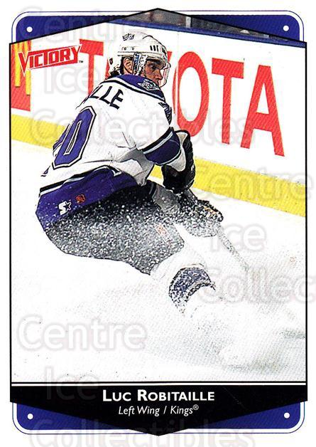 1999-00 UD Victory #134 Luc Robitaille<br/>3 In Stock - $1.00 each - <a href=https://centericecollectibles.foxycart.com/cart?name=1999-00%20UD%20Victory%20%23134%20Luc%20Robitaille...&quantity_max=3&price=$1.00&code=193007 class=foxycart> Buy it now! </a>