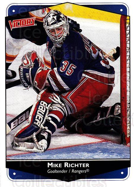 1999-00 UD Victory #189 Mike Richter<br/>4 In Stock - $1.00 each - <a href=https://centericecollectibles.foxycart.com/cart?name=1999-00%20UD%20Victory%20%23189%20Mike%20Richter...&quantity_max=4&price=$1.00&code=193066 class=foxycart> Buy it now! </a>