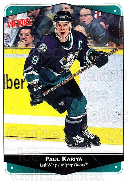 1999-00 UD Victory #2 Paul Kariya<br/>2 In Stock - $2.00 each - <a href=https://centericecollectibles.foxycart.com/cart?name=1999-00%20UD%20Victory%20%232%20Paul%20Kariya...&quantity_max=2&price=$2.00&code=193078 class=foxycart> Buy it now! </a>