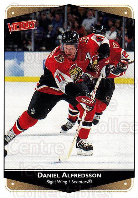 1999-00 UD Victory #204 Daniel Alfredsson<br/>3 In Stock - $1.00 each - <a href=https://centericecollectibles.foxycart.com/cart?name=1999-00%20UD%20Victory%20%23204%20Daniel%20Alfredss...&quantity_max=3&price=$1.00&code=193084 class=foxycart> Buy it now! </a>