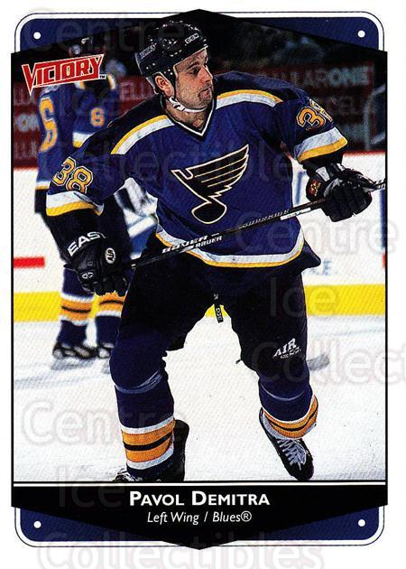 1999-00 UD Victory #259 Pavol Demitra<br/>2 In Stock - $1.00 each - <a href=https://centericecollectibles.foxycart.com/cart?name=1999-00%20UD%20Victory%20%23259%20Pavol%20Demitra...&quantity_max=2&price=$1.00&code=193142 class=foxycart> Buy it now! </a>