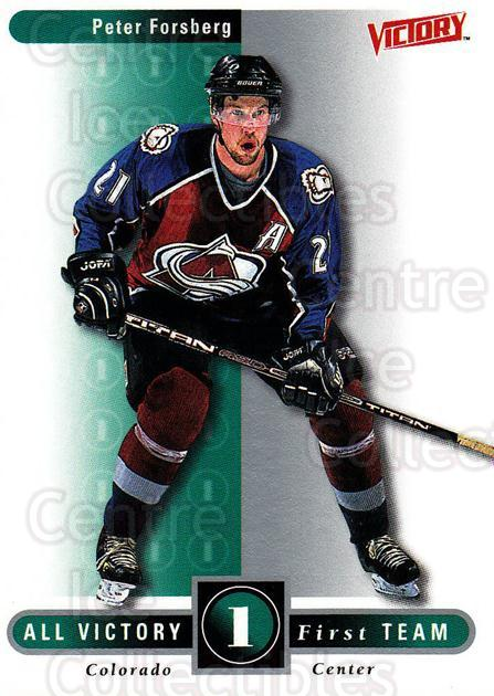 1999-00 UD Victory #314 Peter Forsberg<br/>3 In Stock - $2.00 each - <a href=https://centericecollectibles.foxycart.com/cart?name=1999-00%20UD%20Victory%20%23314%20Peter%20Forsberg...&quantity_max=3&price=$2.00&code=193204 class=foxycart> Buy it now! </a>