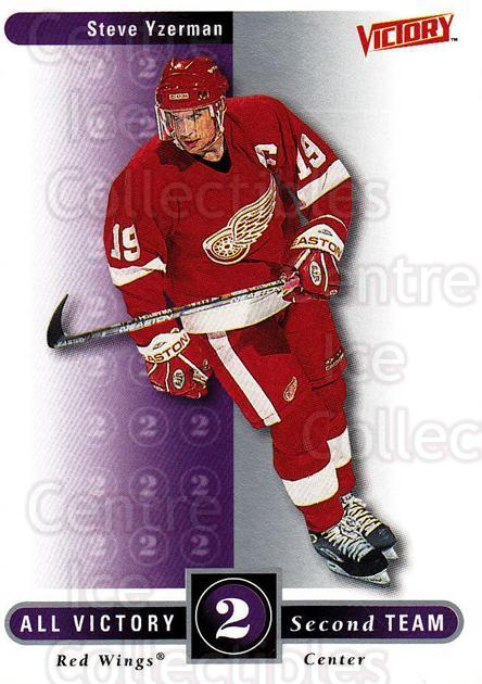 1999-00 UD Victory #320 Steve Yzerman<br/>3 In Stock - $2.00 each - <a href=https://centericecollectibles.foxycart.com/cart?name=1999-00%20UD%20Victory%20%23320%20Steve%20Yzerman...&quantity_max=3&price=$2.00&code=193210 class=foxycart> Buy it now! </a>