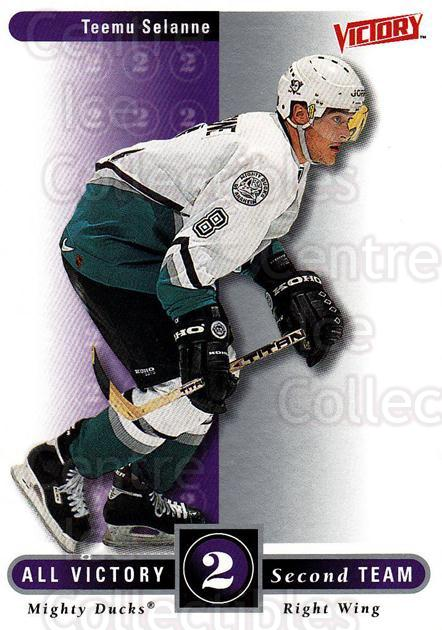1999-00 UD Victory #321 Teemu Selanne<br/>2 In Stock - $2.00 each - <a href=https://centericecollectibles.foxycart.com/cart?name=1999-00%20UD%20Victory%20%23321%20Teemu%20Selanne...&quantity_max=2&price=$2.00&code=193211 class=foxycart> Buy it now! </a>