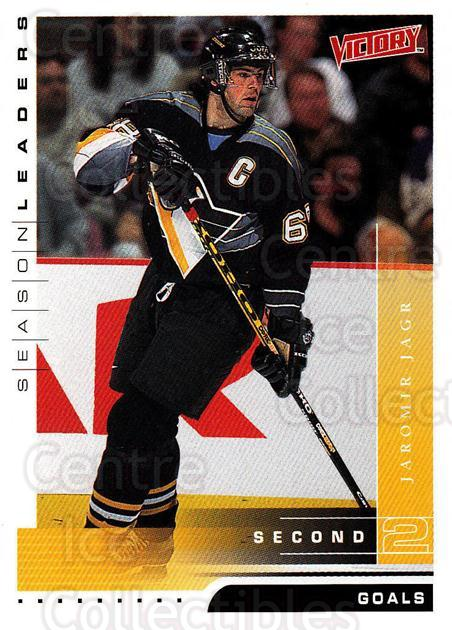 1999-00 UD Victory #328 Jaromir Jagr<br/>1 In Stock - $2.00 each - <a href=https://centericecollectibles.foxycart.com/cart?name=1999-00%20UD%20Victory%20%23328%20Jaromir%20Jagr...&quantity_max=1&price=$2.00&code=193218 class=foxycart> Buy it now! </a>