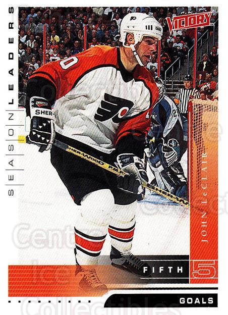1999-00 UD Victory #330 John LeClair<br/>2 In Stock - $1.00 each - <a href=https://centericecollectibles.foxycart.com/cart?name=1999-00%20UD%20Victory%20%23330%20John%20LeClair...&quantity_max=2&price=$1.00&code=193221 class=foxycart> Buy it now! </a>