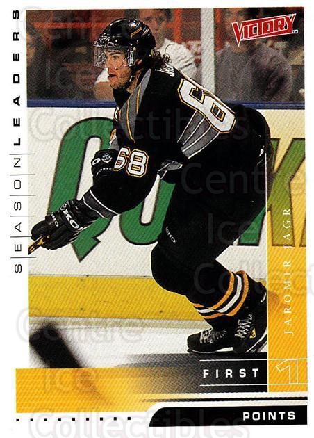 1999-00 UD Victory #336 Jaromir Jagr<br/>4 In Stock - $2.00 each - <a href=https://centericecollectibles.foxycart.com/cart?name=1999-00%20UD%20Victory%20%23336%20Jaromir%20Jagr...&quantity_max=4&price=$2.00&code=193227 class=foxycart> Buy it now! </a>