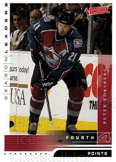 1999-00 UD Victory #339 Peter Forsberg<br/>3 In Stock - $2.00 each - <a href=https://centericecollectibles.foxycart.com/cart?name=1999-00%20UD%20Victory%20%23339%20Peter%20Forsberg...&quantity_max=3&price=$2.00&code=193230 class=foxycart> Buy it now! </a>