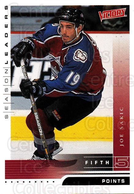 1999-00 UD Victory #340 Joe Sakic<br/>4 In Stock - $2.00 each - <a href=https://centericecollectibles.foxycart.com/cart?name=1999-00%20UD%20Victory%20%23340%20Joe%20Sakic...&quantity_max=4&price=$2.00&code=193232 class=foxycart> Buy it now! </a>