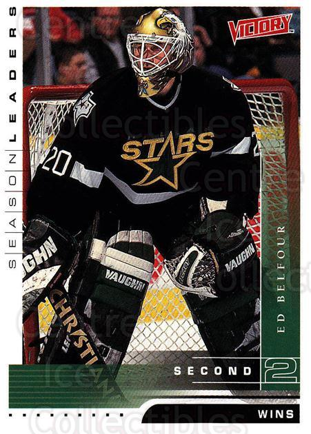 1999-00 UD Victory #347 Ed Belfour<br/>1 In Stock - $1.00 each - <a href=https://centericecollectibles.foxycart.com/cart?name=1999-00%20UD%20Victory%20%23347%20Ed%20Belfour...&price=$1.00&code=193239 class=foxycart> Buy it now! </a>
