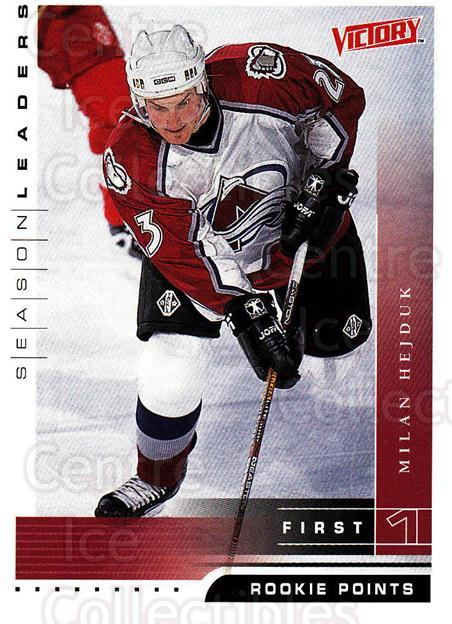 1999-00 UD Victory #351 Milan Hejduk<br/>4 In Stock - $1.00 each - <a href=https://centericecollectibles.foxycart.com/cart?name=1999-00%20UD%20Victory%20%23351%20Milan%20Hejduk...&quantity_max=4&price=$1.00&code=193244 class=foxycart> Buy it now! </a>