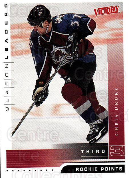 1999-00 UD Victory #353 Chris Drury<br/>4 In Stock - $1.00 each - <a href=https://centericecollectibles.foxycart.com/cart?name=1999-00%20UD%20Victory%20%23353%20Chris%20Drury...&quantity_max=4&price=$1.00&code=193246 class=foxycart> Buy it now! </a>
