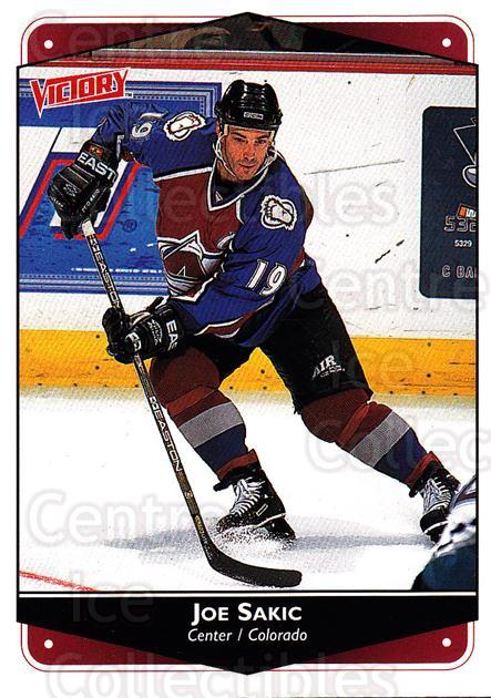 1999-00 UD Victory #79 Joe Sakic<br/>2 In Stock - $2.00 each - <a href=https://centericecollectibles.foxycart.com/cart?name=1999-00%20UD%20Victory%20%2379%20Joe%20Sakic...&quantity_max=2&price=$2.00&code=193374 class=foxycart> Buy it now! </a>