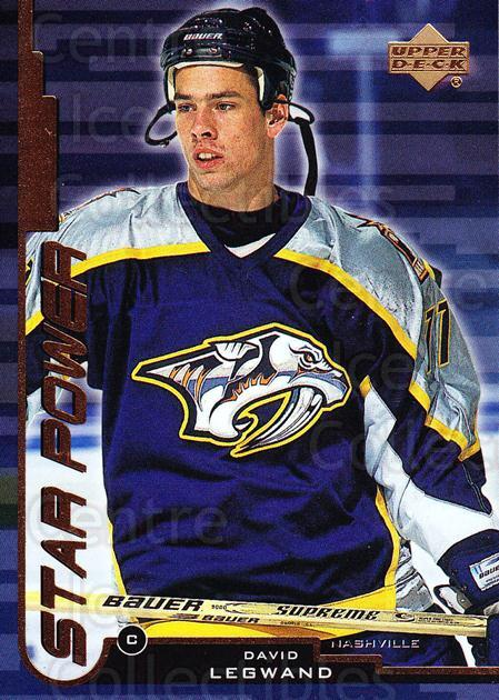 1999-00 Upper Deck #160 David Legwand<br/>3 In Stock - $3.00 each - <a href=https://centericecollectibles.foxycart.com/cart?name=1999-00%20Upper%20Deck%20%23160%20David%20Legwand...&quantity_max=3&price=$3.00&code=193404 class=foxycart> Buy it now! </a>