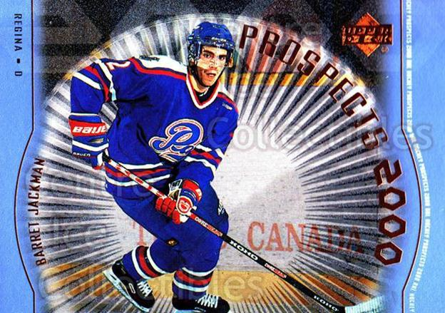 1999-00 Upper Deck #312 Barret Jackman<br/>1 In Stock - $3.00 each - <a href=https://centericecollectibles.foxycart.com/cart?name=1999-00%20Upper%20Deck%20%23312%20Barret%20Jackman...&price=$3.00&code=193472 class=foxycart> Buy it now! </a>