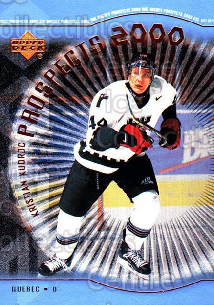 1999-00 Upper Deck #313 Kristian Kudroc<br/>4 In Stock - $3.00 each - <a href=https://centericecollectibles.foxycart.com/cart?name=1999-00%20Upper%20Deck%20%23313%20Kristian%20Kudroc...&price=$3.00&code=193473 class=foxycart> Buy it now! </a>