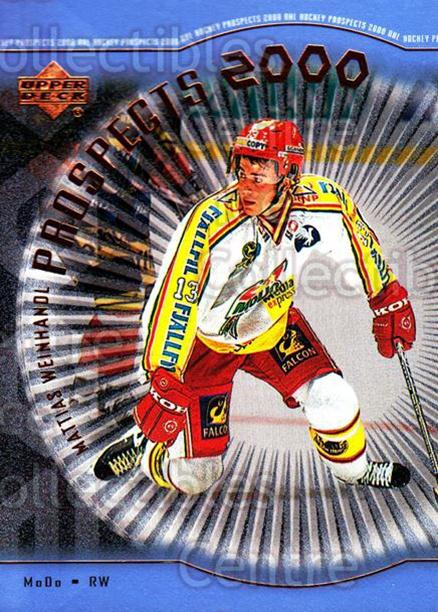 1999-00 Upper Deck #327 Mattias Weinhandl<br/>3 In Stock - $3.00 each - <a href=https://centericecollectibles.foxycart.com/cart?name=1999-00%20Upper%20Deck%20%23327%20Mattias%20Weinhan...&price=$3.00&code=193485 class=foxycart> Buy it now! </a>