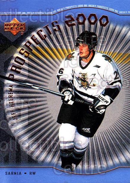 1999-00 Upper Deck #333 Jeff Heerema<br/>1 In Stock - $3.00 each - <a href=https://centericecollectibles.foxycart.com/cart?name=1999-00%20Upper%20Deck%20%23333%20Jeff%20Heerema...&price=$3.00&code=193492 class=foxycart> Buy it now! </a>