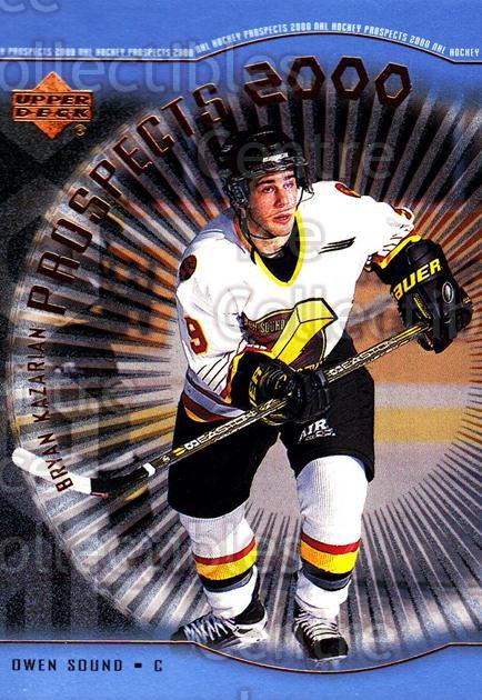 1999-00 Upper Deck #335 Bryan Kazarian<br/>2 In Stock - $3.00 each - <a href=https://centericecollectibles.foxycart.com/cart?name=1999-00%20Upper%20Deck%20%23335%20Bryan%20Kazarian...&price=$3.00&code=193494 class=foxycart> Buy it now! </a>