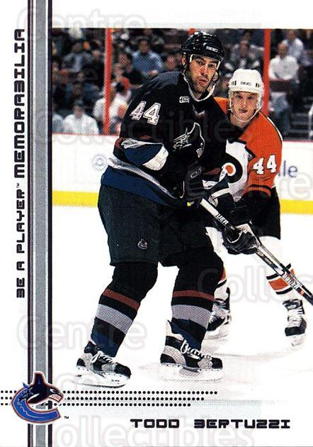 2000-01 BAP Memorabilia #299 Todd Bertuzzi<br/>9 In Stock - $1.00 each - <a href=https://centericecollectibles.foxycart.com/cart?name=2000-01%20BAP%20Memorabilia%20%23299%20Todd%20Bertuzzi...&quantity_max=9&price=$1.00&code=193622 class=foxycart> Buy it now! </a>