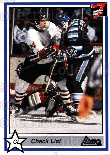 1990-91 7th Inning Sketch QMJHL #160 Drummondville Voltigeurs, Checklist<br/>9 In Stock - $1.00 each - <a href=https://centericecollectibles.foxycart.com/cart?name=1990-91%207th%20Inning%20Sketch%20QMJHL%20%23160%20Drummondville%20V...&price=$1.00&code=19465 class=foxycart> Buy it now! </a>