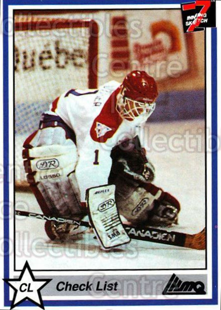 1990-91 7th Inning Sketch QMJHL #162 Alain Gauthier, Checklist<br/>9 In Stock - $1.00 each - <a href=https://centericecollectibles.foxycart.com/cart?name=1990-91%207th%20Inning%20Sketch%20QMJHL%20%23162%20Alain%20Gauthier,...&quantity_max=9&price=$1.00&code=19467 class=foxycart> Buy it now! </a>