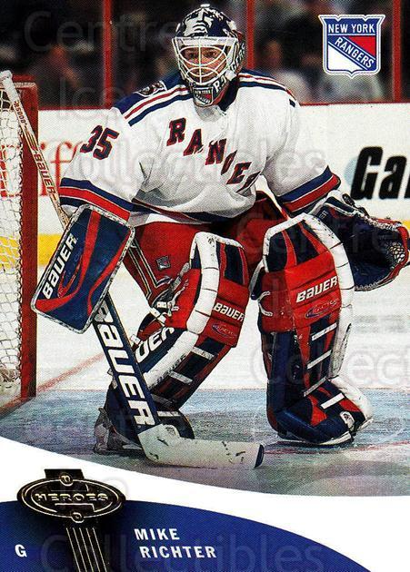 2000-01 UD Heroes #81 Mike Richter<br/>6 In Stock - $1.00 each - <a href=https://centericecollectibles.foxycart.com/cart?name=2000-01%20UD%20Heroes%20%2381%20Mike%20Richter...&quantity_max=6&price=$1.00&code=195253 class=foxycart> Buy it now! </a>
