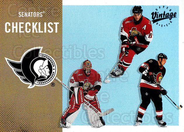 2000-01 UD Vintage #258 Alexei Yashin, Patrick Lalime, Marian Hossa, Checklist<br/>7 In Stock - $1.00 each - <a href=https://centericecollectibles.foxycart.com/cart?name=2000-01%20UD%20Vintage%20%23258%20Alexei%20Yashin,%20...&quantity_max=7&price=$1.00&code=195416 class=foxycart> Buy it now! </a>