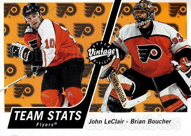 2000-01 UD Vintage #272 John LeClair, Brian Boucher<br/>3 In Stock - $1.00 each - <a href=https://centericecollectibles.foxycart.com/cart?name=2000-01%20UD%20Vintage%20%23272%20John%20LeClair,%20B...&quantity_max=3&price=$1.00&code=195431 class=foxycart> Buy it now! </a>
