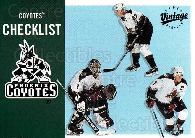 2000-01 UD Vintage #283 Sean Burke, Jeremy Roenick, Keith Tkachuk, Checklist<br/>7 In Stock - $1.00 each - <a href=https://centericecollectibles.foxycart.com/cart?name=2000-01%20UD%20Vintage%20%23283%20Sean%20Burke,%20Jer...&quantity_max=7&price=$1.00&code=195442 class=foxycart> Buy it now! </a>