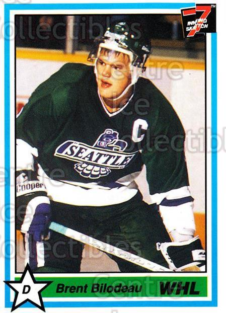 1990-91 7th Inning Sketch WHL #1 Brent Bilodeau<br/>9 In Stock - $1.00 each - <a href=https://centericecollectibles.foxycart.com/cart?name=1990-91%207th%20Inning%20Sketch%20WHL%20%231%20Brent%20Bilodeau...&price=$1.00&code=19545 class=foxycart> Buy it now! </a>