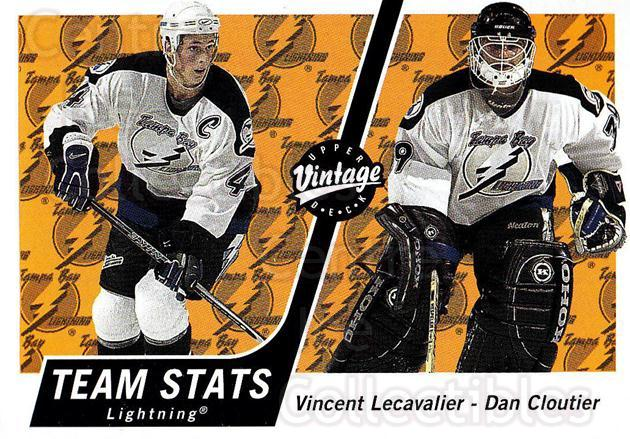 2000-01 UD Vintage #333 Vincent Lecavalier, Dan Cloutier<br/>5 In Stock - $1.00 each - <a href=https://centericecollectibles.foxycart.com/cart?name=2000-01%20UD%20Vintage%20%23333%20Vincent%20Lecaval...&quantity_max=5&price=$1.00&code=195496 class=foxycart> Buy it now! </a>