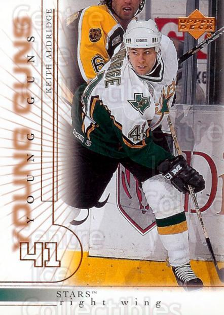 2000-01 Upper Deck #183 Keith Aldridge<br/>2 In Stock - $3.00 each - <a href=https://centericecollectibles.foxycart.com/cart?name=2000-01%20Upper%20Deck%20%23183%20Keith%20Aldridge...&price=$3.00&code=195707 class=foxycart> Buy it now! </a>